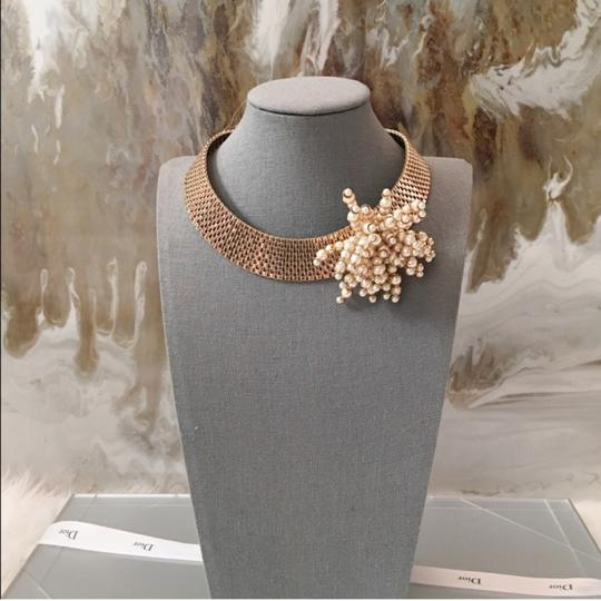 Dior RARE Gold Pearl Cluster Collar Necklace Image 6
