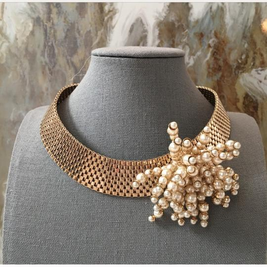 Dior RARE Gold Pearl Cluster Collar Necklace Image 8