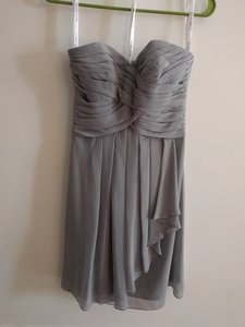 David's Bridal Grey F14847 Mercury Formal Bridesmaid/Mob Dress Size 0 (XS)