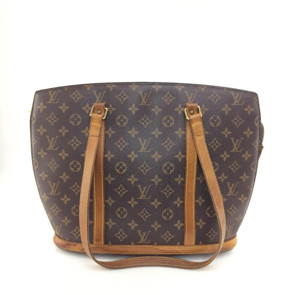 Louis Vuitton Babylone Monogram 865799 Brown Coated Canvas Tote ... 847284d5ef2