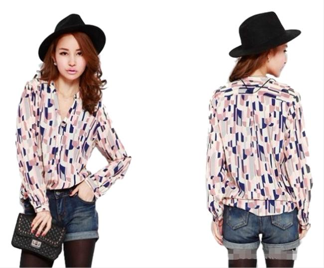Preload https://item1.tradesy.com/images/brand-new-multi-color-blouse-pinkbluecreambrown-top-top-pinkbluecreambrown-2283415-0-0.jpg?width=400&height=650