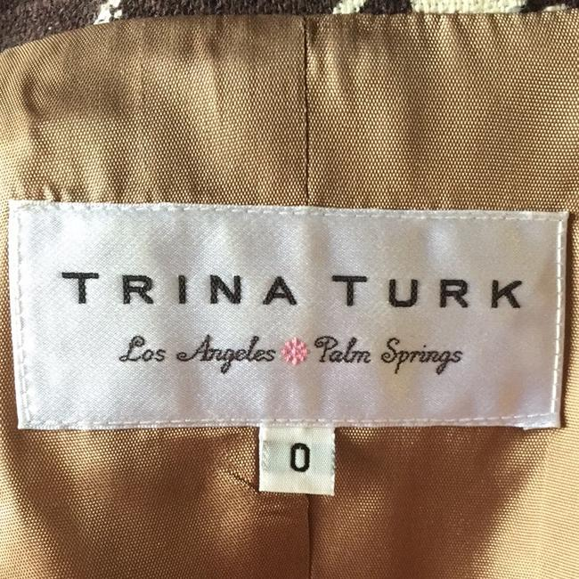 Trina Turk Brown And Linen Jacket