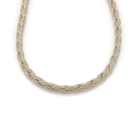 Tiffany & Co. Somerset Sterling Silver 6mm Braided Mesh Necklace Image 1