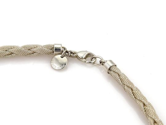 Tiffany & Co. Somerset Sterling Silver 6mm Braided Mesh Necklace Image 3