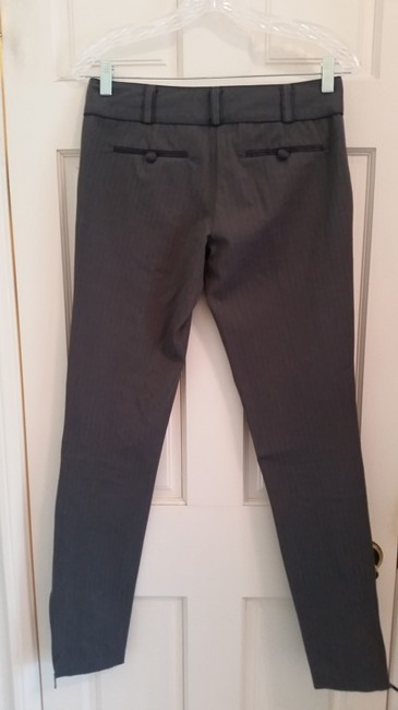 Forever 21 Business Casual Skinny Pants grey with white stripes