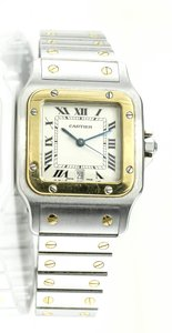 Cartier Cartier Santos Galbee 1566 Gold and Stainless Steel Watch