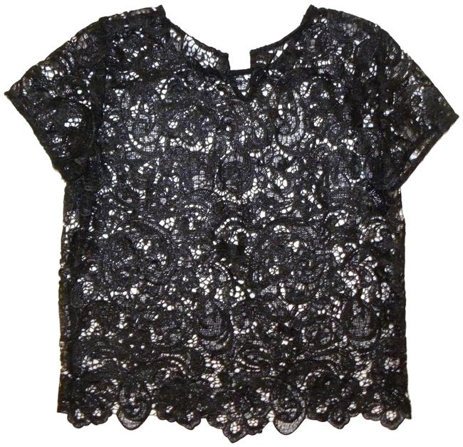 Preload https://img-static.tradesy.com/item/22834678/bisou-bisou-black-vintage-90s-lace-shell-night-out-top-size-6-s-0-1-650-650.jpg