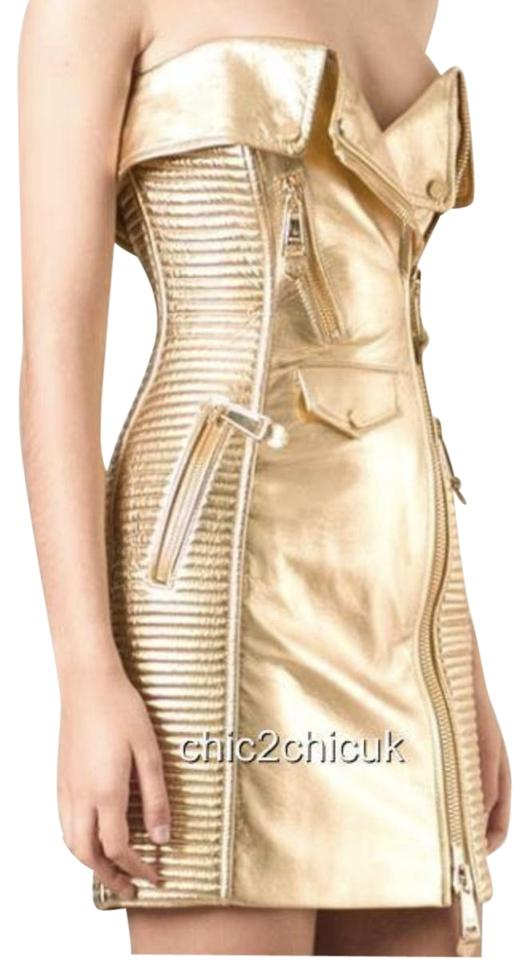 Moschino Leather Motorcycle Style Barbie Dress