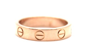 Cartier 18K gold Love wedding band ring size 4.5 46 4mm wide