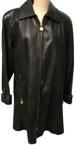 Tannery West Soft Leather Zips Pea Coat