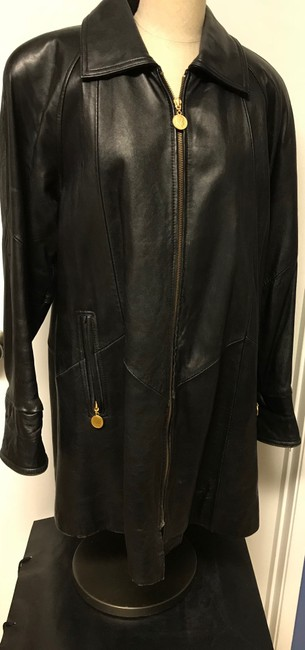 Tannery West Soft Leather Zips Pea Coat Image 1