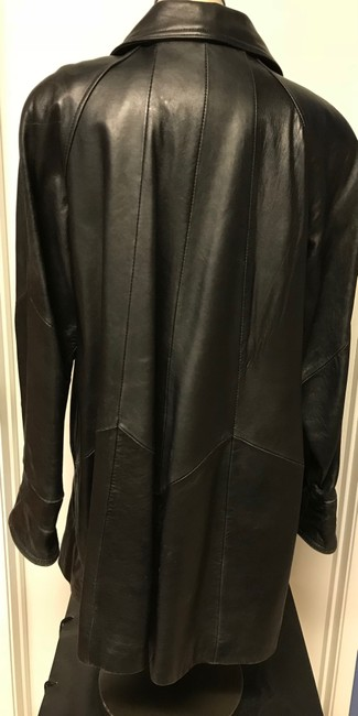 Tannery West Soft Leather Zips Pea Coat Image 2