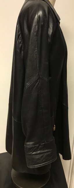 Tannery West Soft Leather Zips Pea Coat Image 3