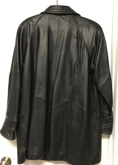 Tannery West Soft Leather Zips Pea Coat Image 4
