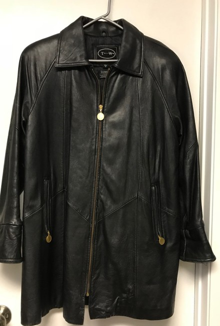 Tannery West Soft Leather Zips Pea Coat Image 5