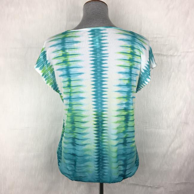 Chico's Top White, Blue, Green Image 2