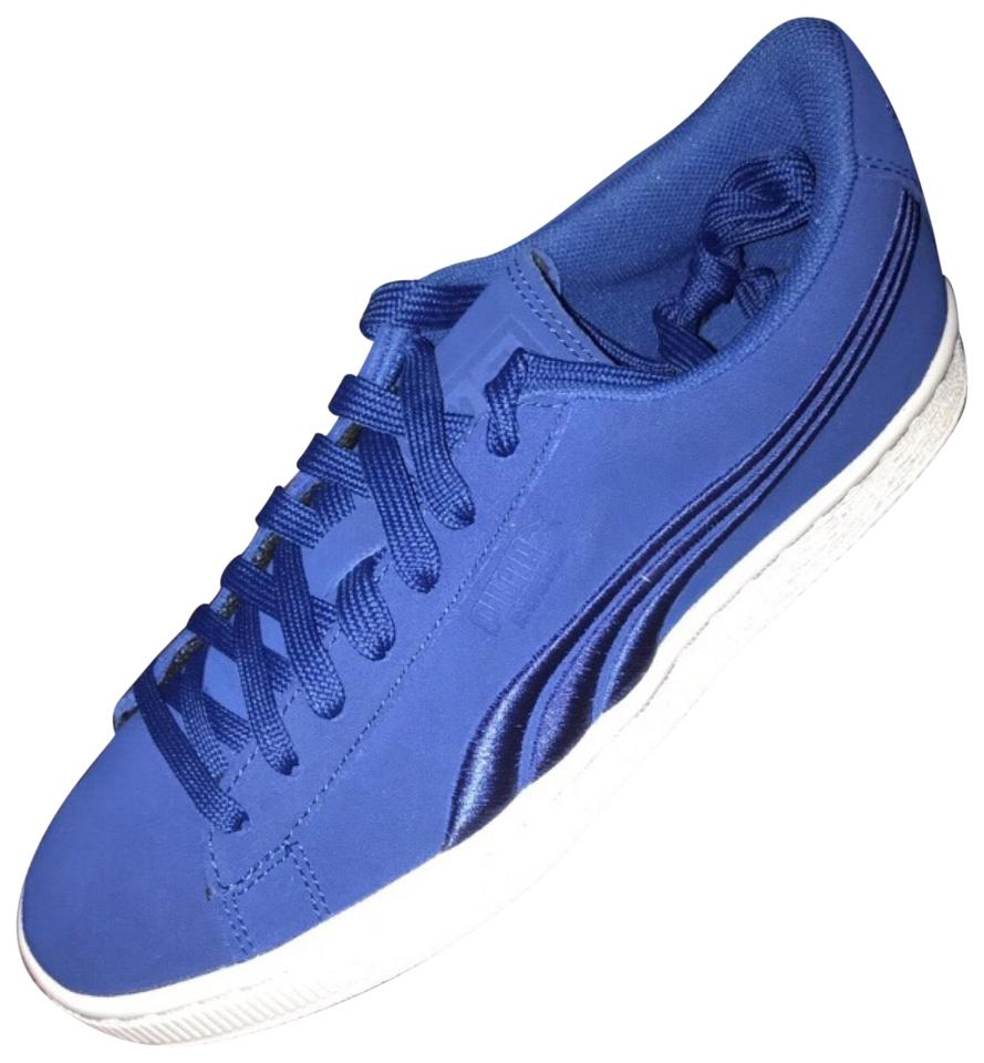 new products 770ca 8a8a9 Puma Blue Suede Classic Badge Sneakers Sneakers Size EU 38 (Approx. US 8)  Regular (M, B) 21% off retail