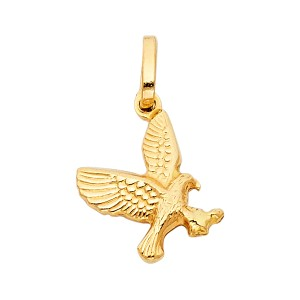 Top Gold & Diamond Jewelry Yellow Gold 14K Flying Eagle Pendant