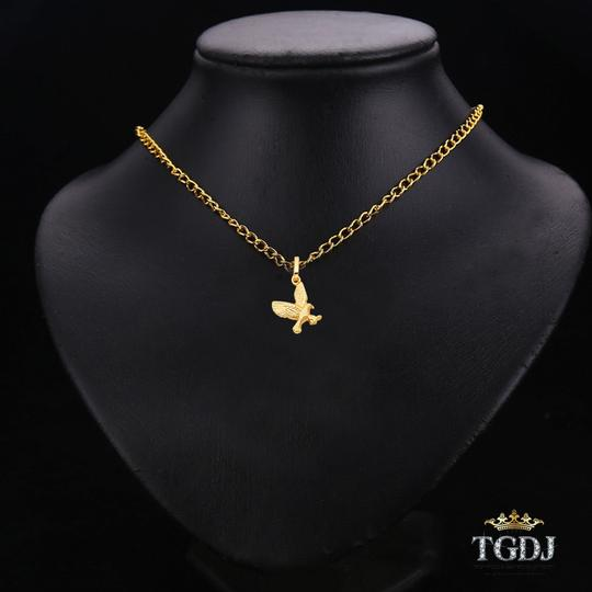 Top Gold & Diamond Jewelry Yellow Gold 14K Flying Eagle Pendant Image 2