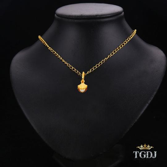 Top Gold & Diamond Jewelry Yellow Gold 14K Shell with Pearl Pendant Image 2