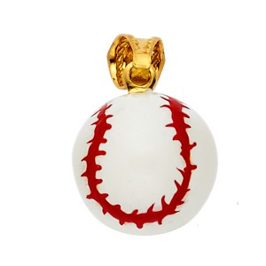 Top Gold & Diamond Jewelry Yellow Gold 14K Baseball Enamel Pendant