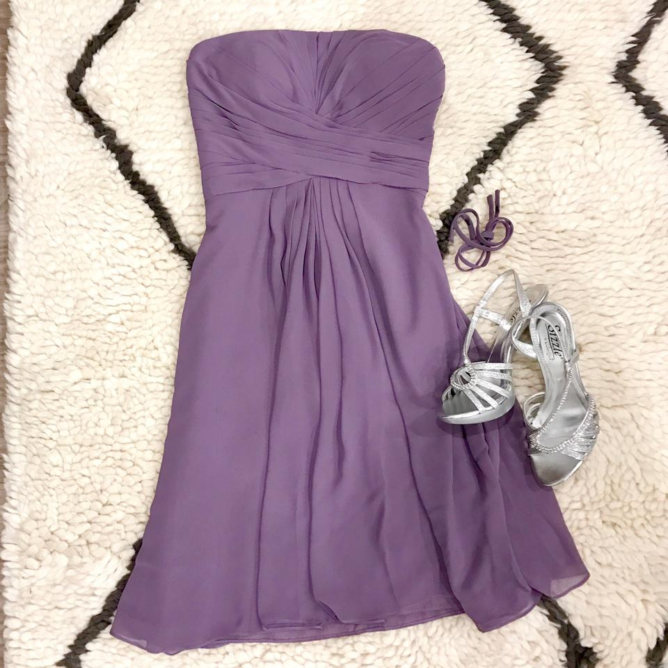 cbe1f26d1b6 Bill Levkoff Lavender Purple Chiffon Polyester Bridesmaid Style 765  Feminine Wedding Dress