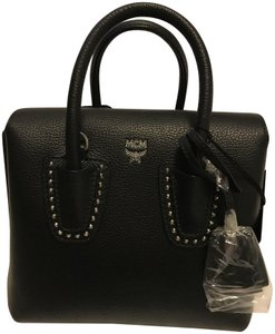 MCM Studded Tote Feet Visetos Cross Body Bag
