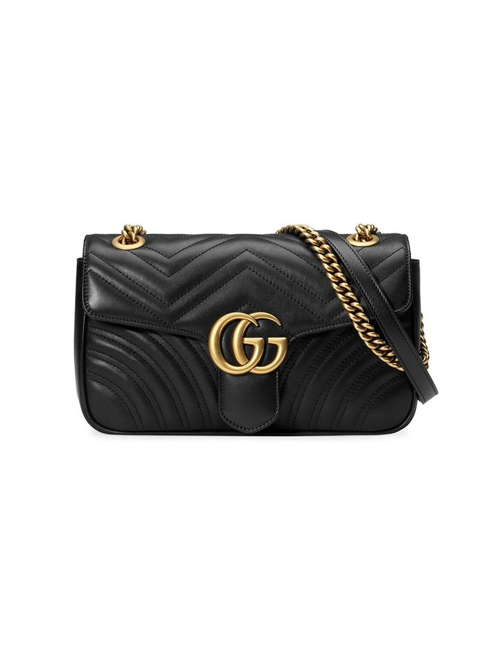 d99aedf2c565 Gucci Marmont Matelasse Small Black Leather Shoulder Bag - Tradesy