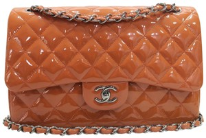 Chanel Vernis Jumbo Double Flap Shoulder Bag