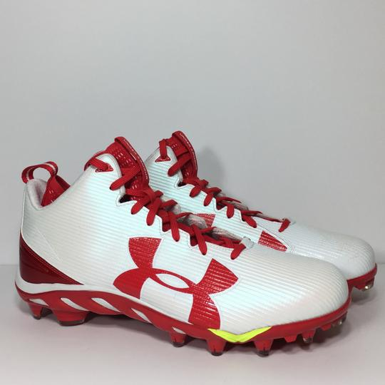 Under Armour Red, White Athletic Image 3