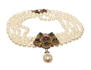 Chanel Chanel Vintage Pearl Pendant Necklace 478986