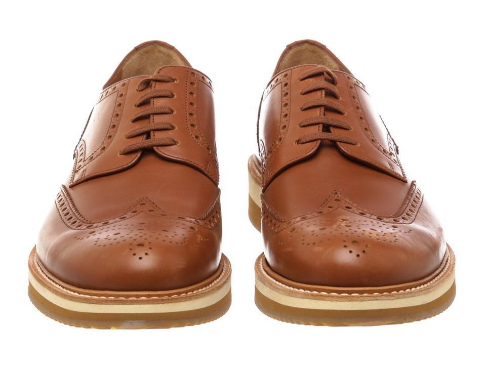 478353 Sneakers Lace 10 Brogues Prada Up Brown Leather qwY84aT