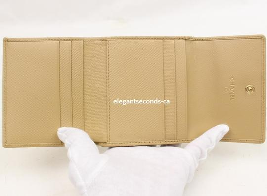 Chanel Authentic Chanel Beige Leather Wallet Image 1