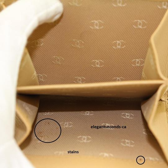 Chanel Authentic Chanel Beige Leather Wallet Image 10