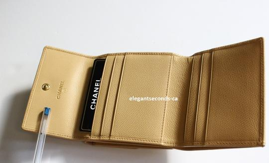 Chanel Authentic Chanel Beige Leather Wallet Image 4
