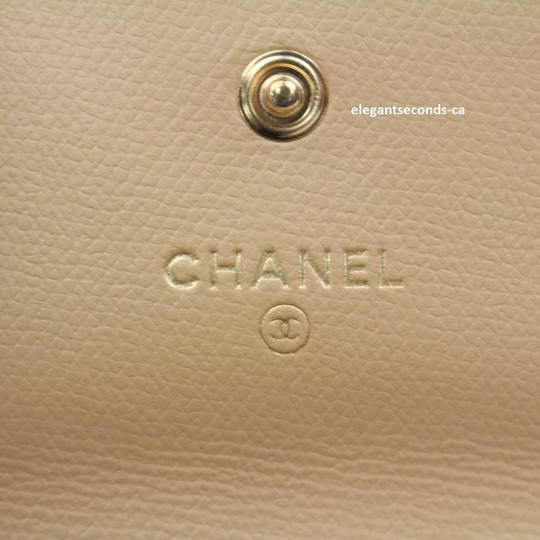 Chanel Authentic Chanel Beige Leather Wallet Image 5