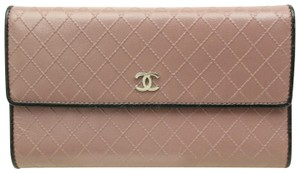 Chanel Chanel Long Leather Wallet Signature Chanel Diamond Pattern