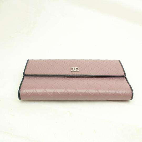 Chanel Chanel Long Leather Wallet Signature Chanel Diamond Pattern Image 1