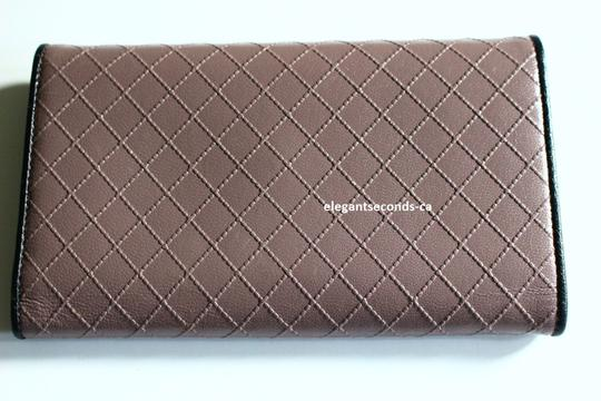 Chanel Chanel Long Leather Wallet Signature Chanel Diamond Pattern Image 2