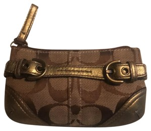 Coach coach mini wallet with buckles