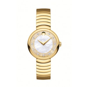 Movado Movado Women's Myla Mother Of Pearl Dial Gold Tone 0607045