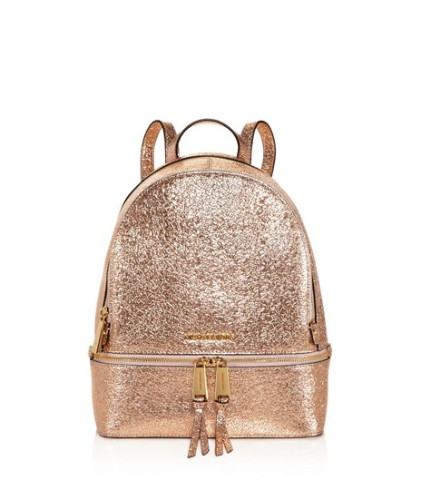 3934969a71a53 Michael Kors Rhea Medium Rose Gold Leather Backpack - Tradesy