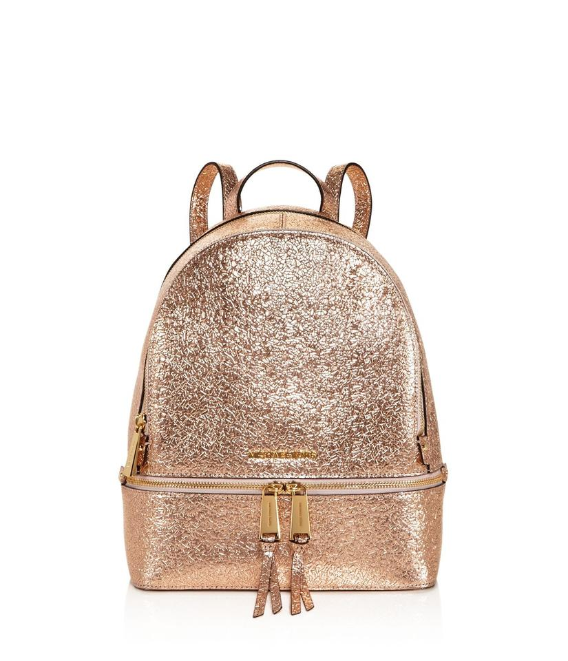fe4660a0d63d2d ... low cost michael kors rhea leather metallic backpack 954b0 e2704