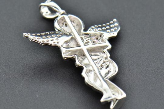 Jewelry For Less Diamond Angel 3D Pendant .925 Sterling Silver Mini Charm Pave 0.50 CT Image 4