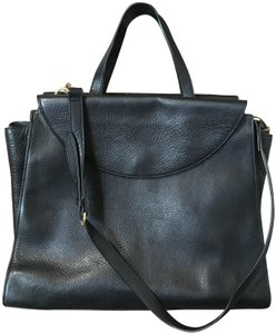 Kate Spade Classic Leather Work Computer Caryall Satchel in Black