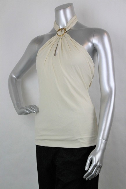 Gucci Women's Champagne Ivory Halter Top Image 2