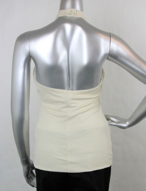 Gucci Women's Champagne Ivory Halter Top Image 3