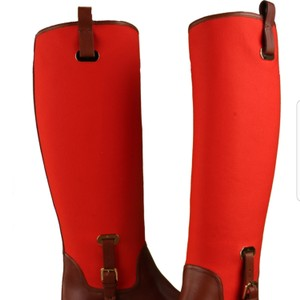 Ralph Lauren Collection Orange and saddle tan Boots