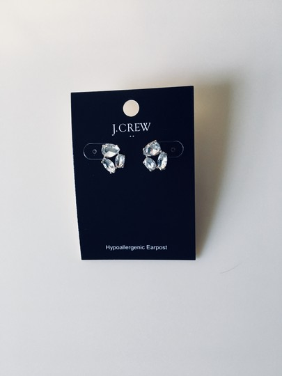 J.Crew New J. Crew Crystal Trio Earrings with J. Crew Pouch Image 2