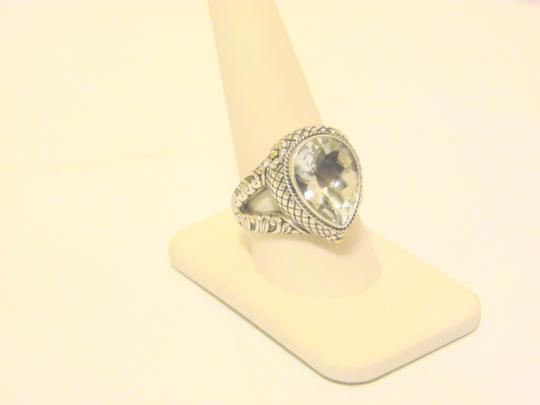 Other Bali Designs 8.07ct Pear-Cut White Topaz 2-Tone Ring Size 8 Image 11